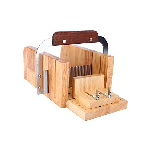 DIY Handmade Soap Tool Set Wooden Soap Loaf Mold Cutter Knife Soap Making Supplies Flat Knife + Wave Knife + Oak Repair Soap Cutting Soap Dispenser