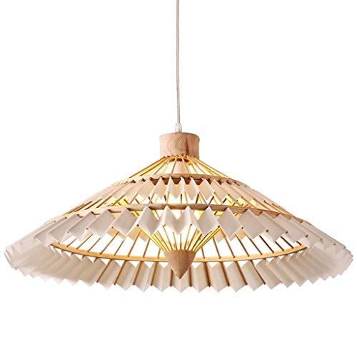 Nordic houten kroonluchter, E27 verstelbare hoogte plafond kroonluchter, raam koffie restaurant kroonluchter, perkament handgeweven kledingwinkel kroonluchter bamboe hout hanglamp kroonluchter
