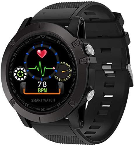 Reloj inteligente para aventuras al aire libre IP68 resistente al agua rastreador de fitness reloj contador de pasos monitor de sueño fitness regalo hombres y ancianos