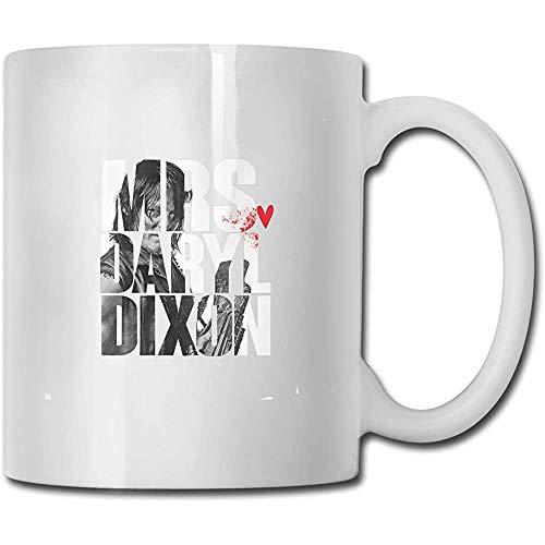 Grappige keramische koffie mokken, Novelty witte thee mok, water sap kop, Mrs. Daryl Dixon Uniek verjaardagscadeau, 11 Oz, voor verjaardag, porseleinen beker