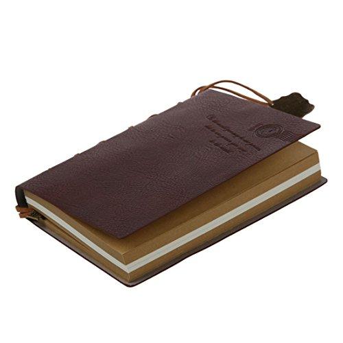 GEEKEN Cuaderno Agenda Diario Paginas en blanco encuadernadas en cuero vintage clasico guapo delicado