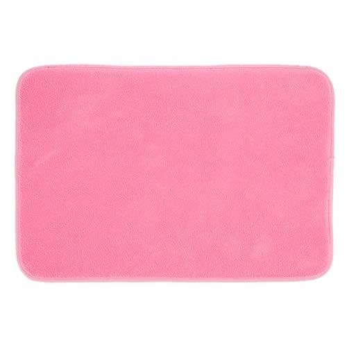 Qini Alfombrilla para el Suelo, Estilo Elegante Alfombrillas Antideslizantes Alfombra de Entrada para Interiores 22.7x15.6x0.4in para el hogar para Cuartos de Lavado para Puertas traseras(Pink)
