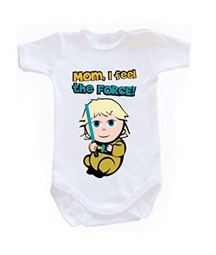 Couleur Mode bébé Luke bodies à manches courtes 100% coton Petit bébé – 24 mois – 0014 blanc 3-6 months, 68 cm