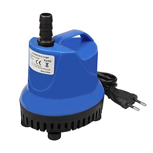 TSSS 18W 900L/H Tauchpumpen Umwälzpumpe Wasserspielpumpe Wasser Pumpen für Gartenentwässerung Aquarien Garten Brunnen Gartenteich Springbrunnen Blau Water Pump
