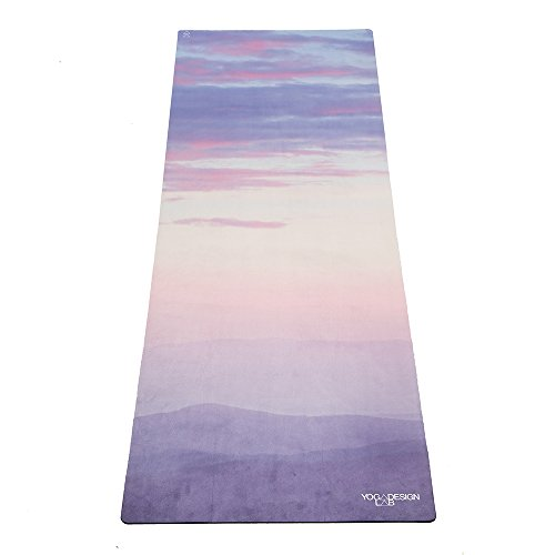 Yoga Design Lab The ComMMUTER - Alfombrilla de yoga ligera, plegable, toalla ecológica | 1,5 mm de grosor (respiración)