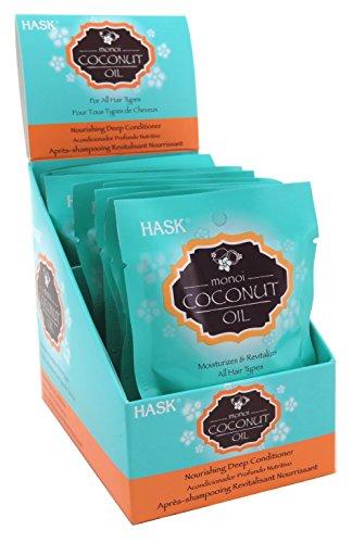 Hask Pks Monoi Coconut Oil Deep Conditioner (12 Pieces) Disply