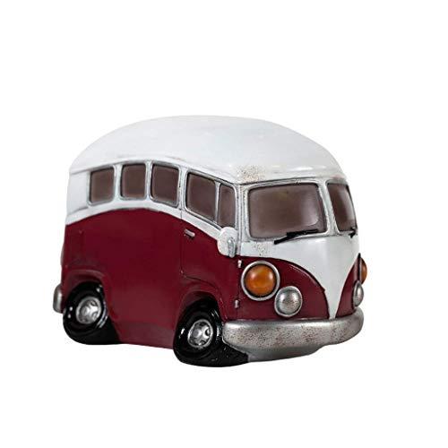 DAQ Piggy Bank - Hucha de resina para coche, diseño retro, color marrón