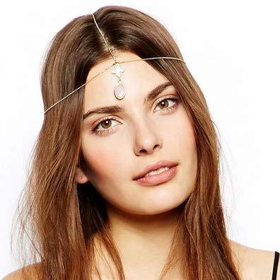 Kercisbeauty Hand der Fatima Kopfschmuck für Frauen und Mädchen, einfache -Kopfbedeckung, Styling-Haar-Accessoires, Gold-Kopfschmuck für Damen