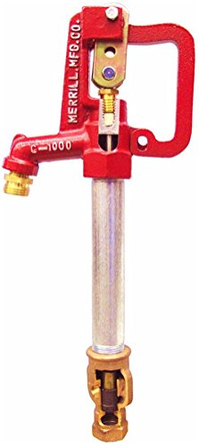 "Merrill MFG C7502 Frost Proof Yard Hydrant, Standard C-1000, 3/4"" Pipe Connection, 1"" Galvanized Pipe, 2' Bury Depth, 56.5"" Total Length, 56.5"""