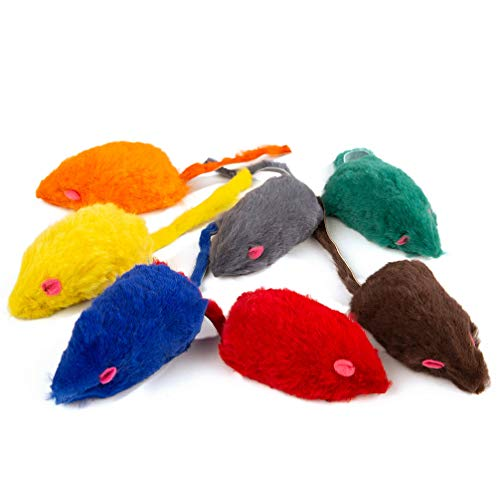 Yangbaga 7 PZ Set di Giocattoli per Gatti Realizzato in soffice Peluche, tra Cui Mouse da Pesca interattivo con Gatto, Palla, ECC, Giocattoli per Gatti e Gattini