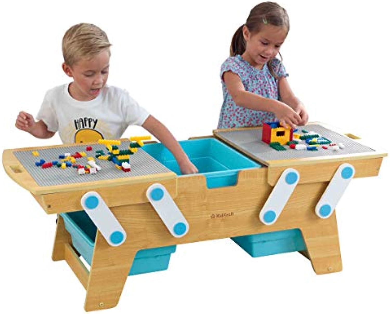 KidKraft 17512 Building Bricks Play N Store Table