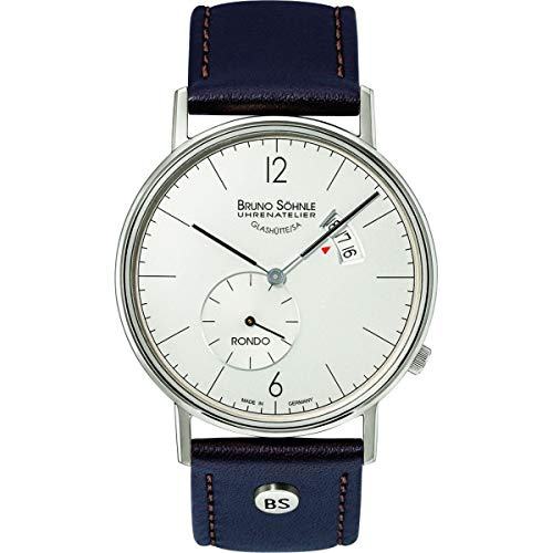 Bruno Söhnle Herren Analog Quarz Uhr mit Echtes Leder Armband 17-13053-261
