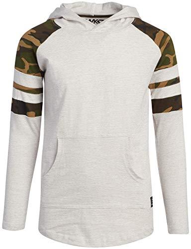 Tony Hawk Boys' Sweatshirt - Fleece Pullover Hoodie, Woodland Camo, Size 14/16