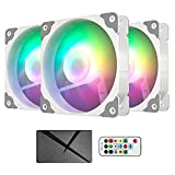 Vetroo 3 Pack 120mm ARGB & PWM Case Fans with Controller High Airflow Addressable RGB Motherboard Sync Computer PC Cooling Fans