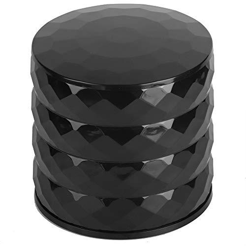 Gatuxe Caja organizadora de Joyas, Caja de Almacenamiento de Joyas Rotación de 360 ° Simple y de Moda para Guardar Anillos, Pendientes, Pulsera(Negro)