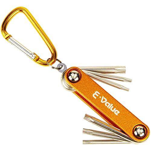 E-Value フォールディングレンチセット 6本組 トルクスネジ対応 イエロー EFHW206T