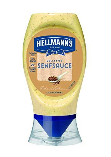 Hellmann's Deli Style Senfsauce (milder Geschmack) 8er Pack (8 x 250 ml)