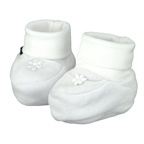 Pantau Babyschuhe Erstlingsschuhe Taufschuhe Babyschühchen Babysocken, Samt, 0-3 Monate, 16 EU