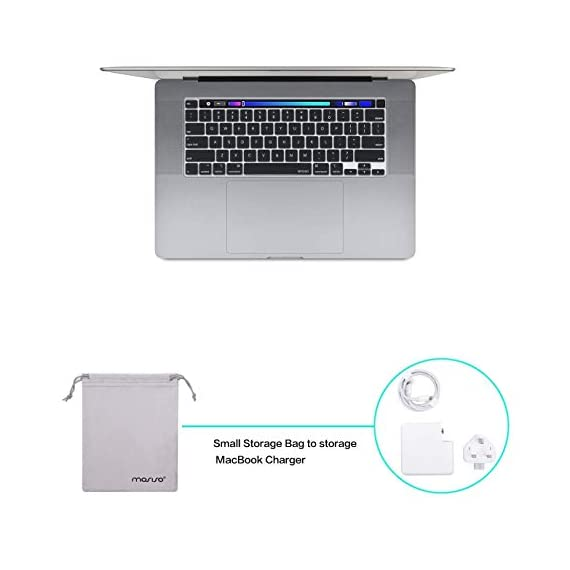 """Mosiso compatible with macbook pro 16 inch case with touch bar touch id, protective plastic hard shell case & keyboard cover & screen protector & storage bag 5 the case was designed only to be compatible with macbook pro 16 inch with touch bar & touch id & retina display (model: a2141, release in 2020 2019 -- mvvj2ll/a, mvvl2ll/a, mvvk2ll/a, mvvm2ll/a). Warning: this case is not compatible with other model laptops. Please kindly check the model number """"a2xxx"""" on the back of the laptop before your purchase, make sure you choose the exact same model number as the listing title stated """"a2141"""". No cut out design, transparency is different from color to color. Case dimension: 14. 17 x 9. 84 x 0. 7 inch, compatible with macbook pro 16 inch with touch bar and touch id with dimension: 14. 09 x 9. 68 x 0. 64 inch. Ultra slim light weight hard case has 13 oz in weight almost adds no weight to your laptop."""