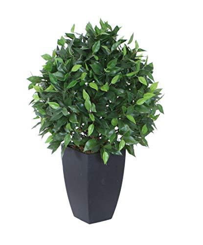 Best Artificial Kunstpflanze Ficusbaum, 60 cm, für drinnen und draußen