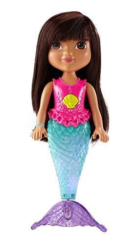 Fisher-Price CDR85 Dora and Friends Sparkle and Swim Mermaid Dora Doll