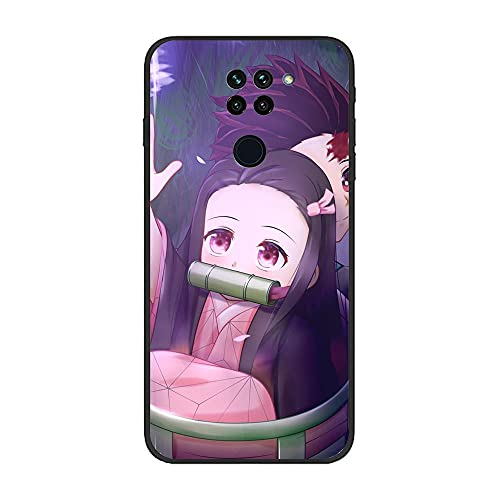 Vkspace Ultra Thin Black Soft Matte Liquid Fundas Coque Case for XIAOMI Redmi Note 9/10X 4G-Demon-Slayer Kimetsu no-Yaiba 6