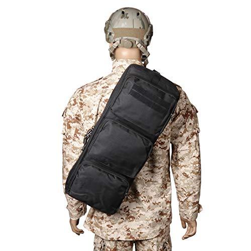 wolfslaves New Tactical 24' Rifle Gear Shoulder MP5 Sling Bag Army Backpack Black MPS Hunting Bag Cross Bag