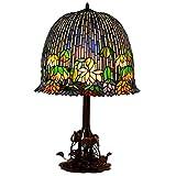 Lámpara De Mesa De Estilo Tiffany, Lámpara Hecha A Mano De 18 Pulgadas E27 Lámpara