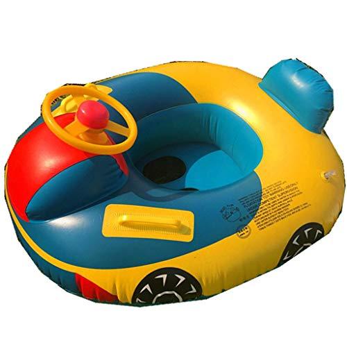 YiFeiCT Flotador inflable en forma de coche para piscina, barco, piscina, flotadores de natación para niños pequeños y niñas jugando en el agua del verano