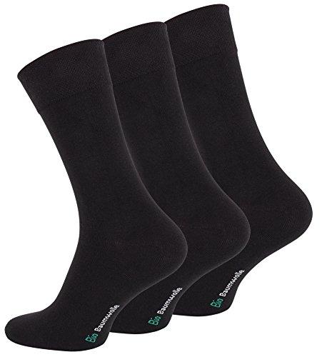 Vincent Creation 12 Paar Schwarze Herren Business-Socken aus reiner Bio-Baumwolle
