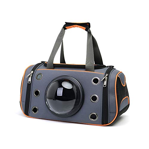 Aida Bz Space Sac Pet Fournitures Pet Sac à Dos Chat Petit Nounours Chien Portable Sac de Chat Sac Pet Bag Out Portable,Orange,M