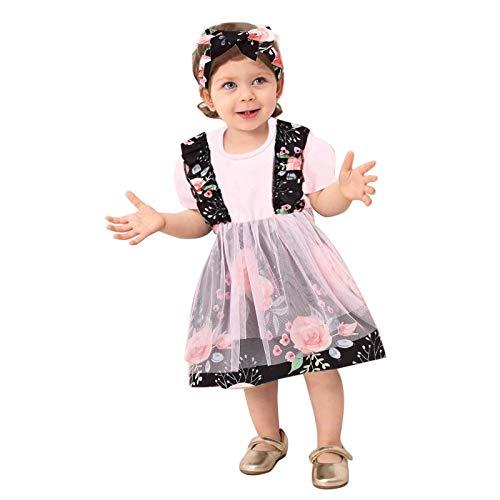 2021 Neu Mädchen Kurzarm Mesh Tüll Prinzessin Kleid Blumen Kleider Puff Rock Kleinkind Baby Mädchen Mesh Patchwork Prinzessin Tutu Kleid Sommerkleid Für Hochzeitsfestparty-Fotoshooting/Fasching