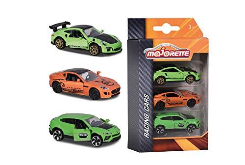 Majorette - Premium Racing Set 3 Pièces - Voitures Miniatures en Métal - Coffret 3 Véhicules Racing - 212084020Q05