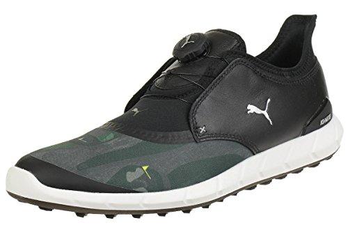 Puma Ignite Spikeless Sport Disc Flagstick Camo Herren Golfschuhe schwarz grau Größe 40,5