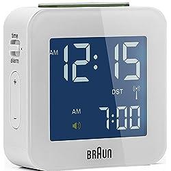 BRAUN Alarm Multiband BNC008BWH-RC Radio Controlled Alarm Clock Very compact