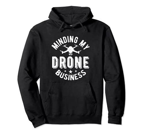 Minding My Drone Business | Scherzo pilota RC Drone professionale Felpa con Cappuccio
