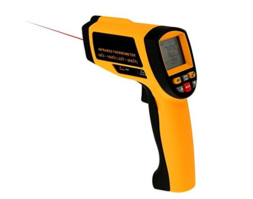 Industrielle Infrarot-Thermometer, Lifenergy IR Laser-berührungslosen Temperatur Gun Thermometer-Laser-Punkt mit USB-Schnittstelle Temperaturbereich -30 ~ 1650 ℃ (-22 ~ 3002 ℉)