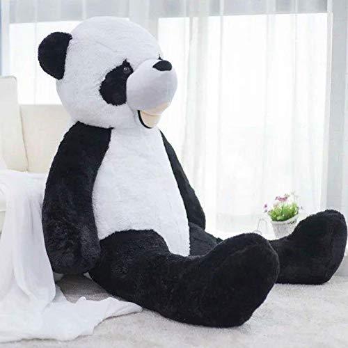 Peluche Grande Panda 130 cm Enorme Peluche Gigante Bianco e Nero - Orso gigantesco - Peluche - Idea Regalo di Compleanno, Natale, sorprese romantiche - Regali per Bambini, Ragazza, Ragazza