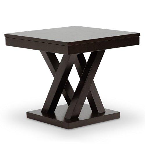 Baxton Studio Everdon Modern End Table, Dark Brown/Cappuccino