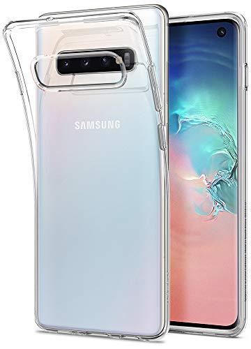 Spigen Liquid Crystal Cover Galaxy S10, Estremamente Sottile TPU Flessibile Puro Trasparente Custodia per Galaxy S10 - Crystal Clear