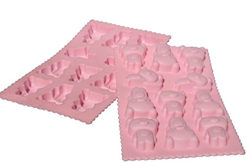 bick.shop Teddy Pralinenform Backform Eiswürfelform Silikonform Schokoladenform seifenform