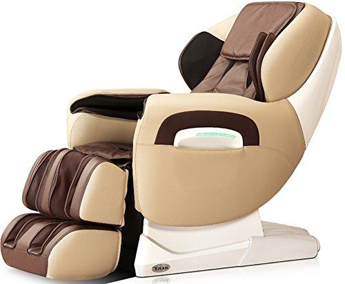 Titan TPPRO8400D Model TP-Pro 8400 Massage Chair in Cream, L-Track Massage Function, Zero GravityMassage, Auto Recline, Foot Roller Massage, Heating Function on Back, Leg Adjustments