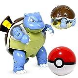UALLL Juguete de Pikachu, Pokeball Toys Elf Set De Deformación De Mascotas, Pop-up Monsters Original Monsters Poke Ball Balloise Y Mewtwo Figura De Acción Toy (Color : Blastoise)