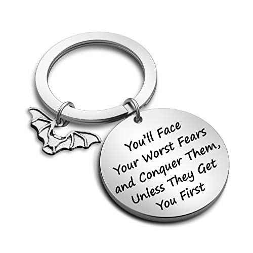 Divergent Inspired Keychain You'll Face Your Worst Fears and Conquer Them Unless They Get You First Divergent Fans Gift(Worst Fears KR)