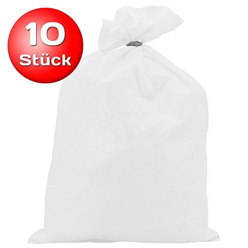 10x Sandsack PP 30 x 60 cm weiß Typ 2508