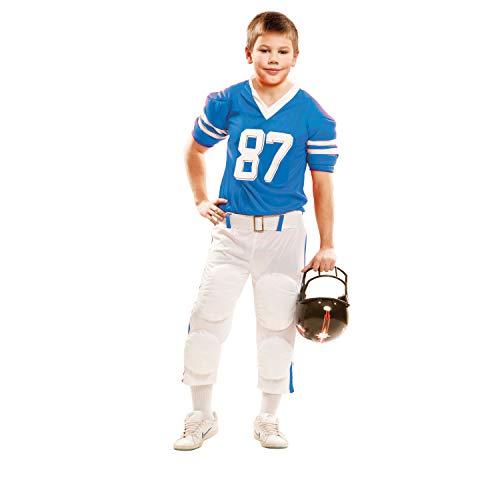 Partychimp 83-02109 - Rugby Spieler, Kinderkostüm, 7-9 Jahre, blau