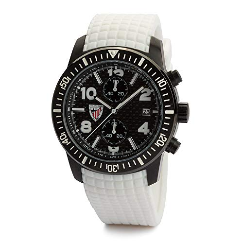 Athletic Club de Bilbao - Reloj analógico Caballero RE01AC01 (Blanco)