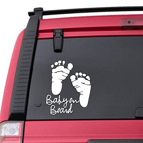 Lindo bebé a bordo pegatinas de coche de dibujos animados advertencia de seguridad automática pegatina personalizada vinilo calcomanías de ventanas de coche