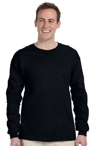 Fruit of the Loom - HD Cotton Long Sleeve T-Shirt - 4930R - XL - Black