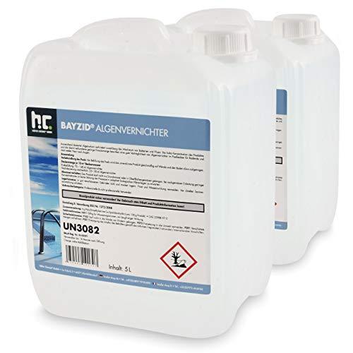 Höfer Chemie 2x5 L Pool Algenvernichter - Anti Algenmittel für Schwimmbad & Pool - gegen Algen